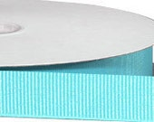 Eco Grosgrain RIBBON - Recycled Bottles - Turquoise - 1 1/2 Inch