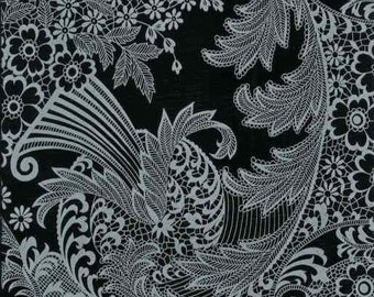 OILCLOTH Fabric - Paradise Lace - Grey