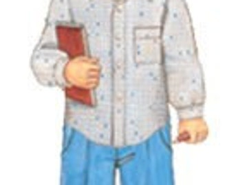 20% Off SALE! Oliver and S PATTERN - Sketchbook Shirt and Shorts - SZ 5-12
