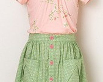 20% Off SALE! Oliver and S PATTERN - Hopscotch Skirt, Knit Top, and Dress - SZ 6m - 4