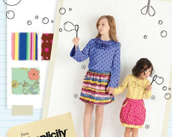 20% Off SALE! Little Lisette Sewing PATTERN - 2064 - Skirt and Pullover Blouse - Sz 7 - 14