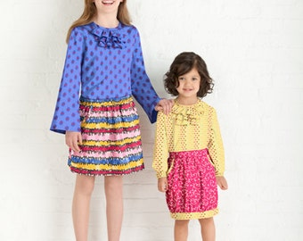 20% Off SALE! Little Lisette Sewing PATTERN - 2064 - Skirt and Pullover Blouse - Sz 3 - 6