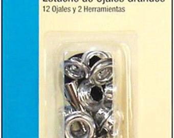 Large EYELET Kit - Nickel - 2 Tools