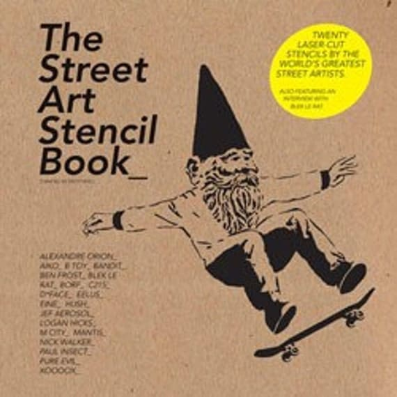 20% Off SALE! The Street Art Stencil BOOK - Curated by ON. Studio