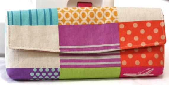 CLUTCH Bag - Etsuko Furuya for Kokka - Internal Zipper Pocket
