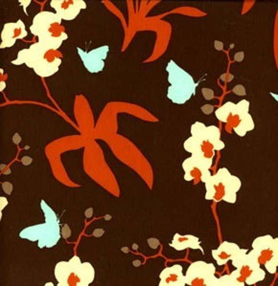 Joel Dewberry FABRIC - Home Decor Ginseng - Chocolate