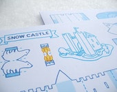 Snow Castle Fold up model