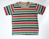 size 2 - 3T striped 70s t shirt. little boy's or unisex. Rob Roy.