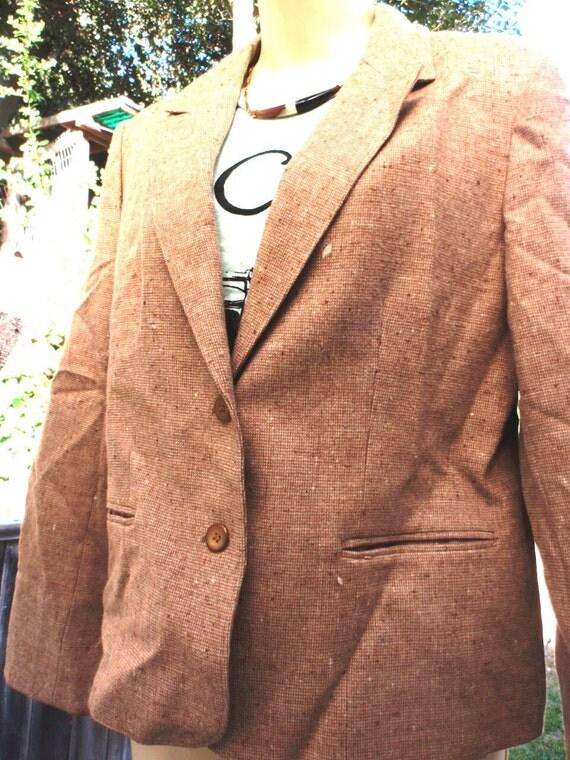 Vintage Pendelton Fitted Wool Jacket Tweed Supplies Repair Remake M
