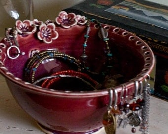 Earring holder, jewelry dish, Earring bowl, Jewelry Bowl organizer, mothers day gift