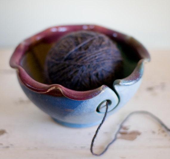 Yarn Bowl, Knitting bowl, yarn bowls-seen in Knit Simple magazine