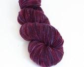 BLACKBERRY- Fave superwash merino nylon sock yarn