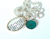 CUSTOM Mustard Seed Vintage Dictionary Word Pendant Necklace by ChirpHandmade