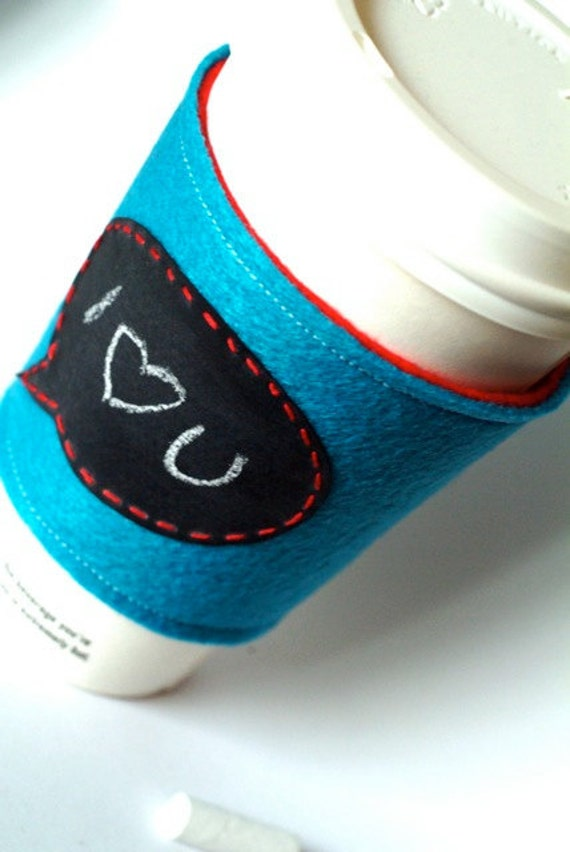 Coffee Cuff-Speak Your Mind-Speech Bubble reusable and eco friendly by Little Bird Creations