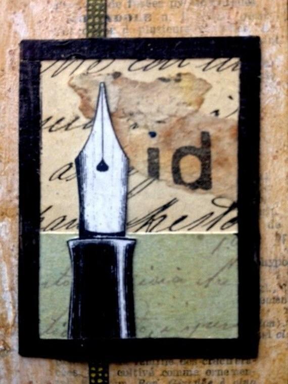 Mixed Media Collage Art - The Write Stuff