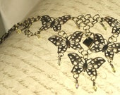 Butterfly Bliss - Antiqued Brass Chain Maille Necklace