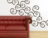 Double Swirl Wall Graphics Set