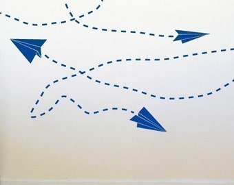 Paper Plane Wall Graphics by michellechristina on Etsy