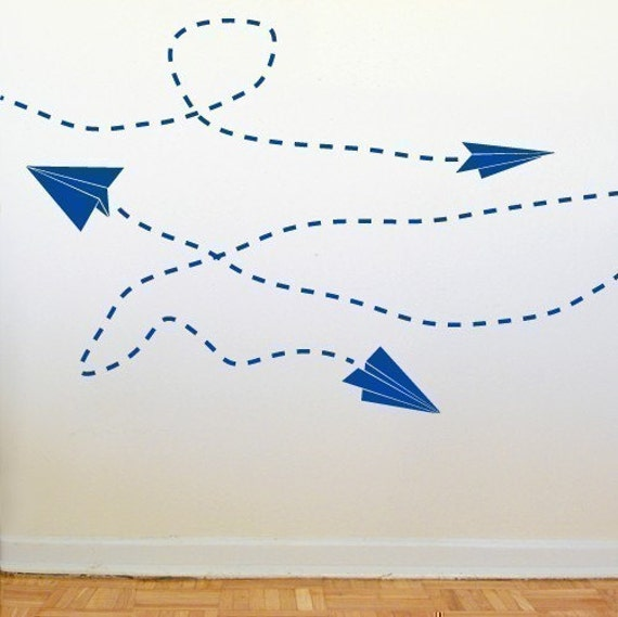 Paper Plane Wall Graphics