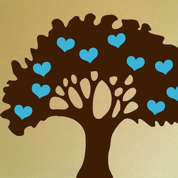 Love Grows Tree Wall Graphic