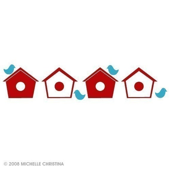 Birdhouse Alley Wall Graphics