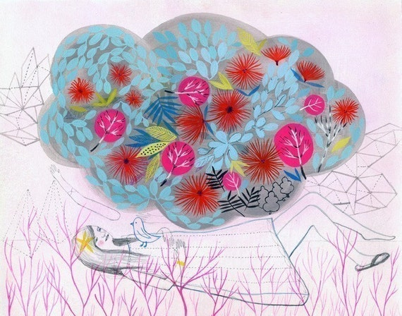 Spring Cloud Limited Edition Print