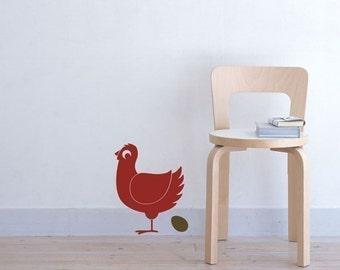 chicken vinyl decal