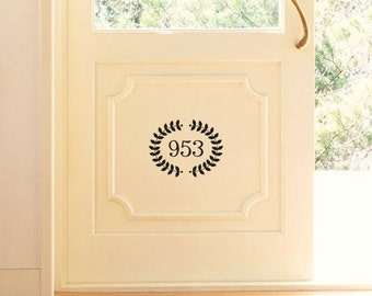 Welcome Wreath Vinyl Decal small