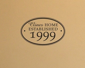 Home established wall vinyl decal