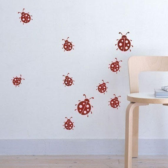 Wall decal Lady Bugs
