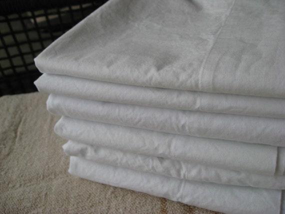 Vintage Cotton Muslin Pillow Cases - NOS - New - Crisp White - Simple Luxury