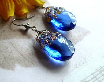 Blue Beauty Glass Earrings - Price Reduced 105