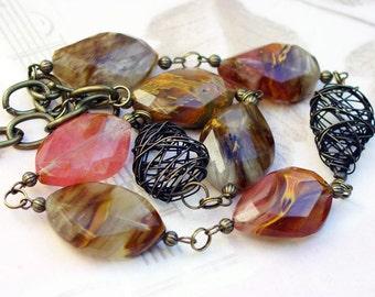 Multicolored Quartz Necklace 197