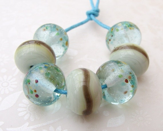 Lampwork Beads Glass Marine Rounds Collection