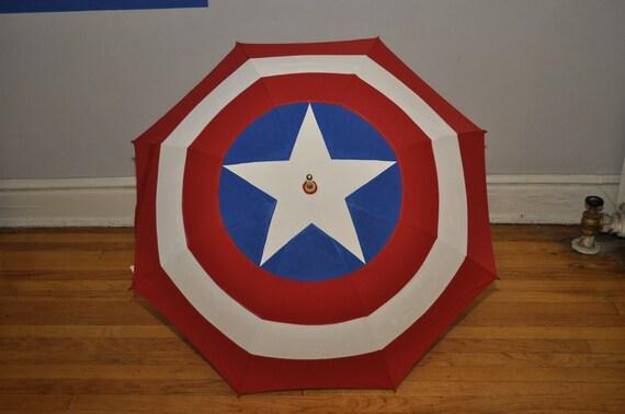 Captain America Shield Umbrella - Nohwear Pop Brollies - RESERVED FOR LOKI