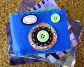 Handstitched Camera Case - Ocean Blue and Kelly Green