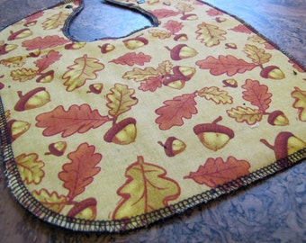 Fall Acorns and Leaves Baby and Toddler Bib