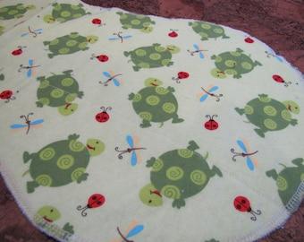 Turtles and Bugs Burp Cloth