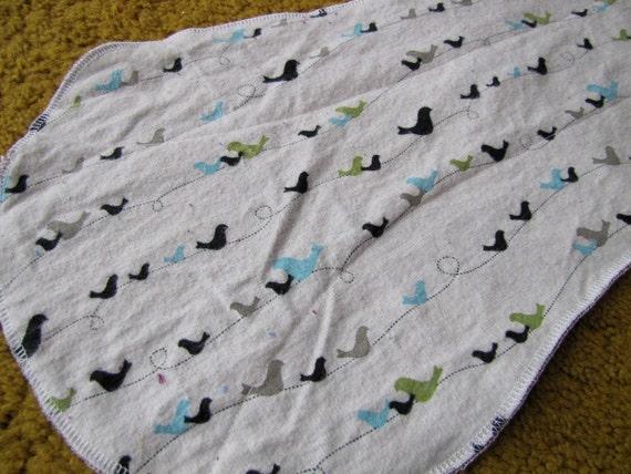 Bird Line Burp Cloth
