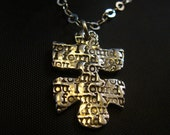 Puzzle Necklace-I Found You- The missing Piece