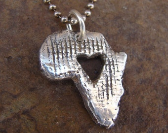 Africa Necklace-Heart for AFRICA