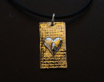 "Tears necklace on Leather ""Tears are words the Heart can't express"""