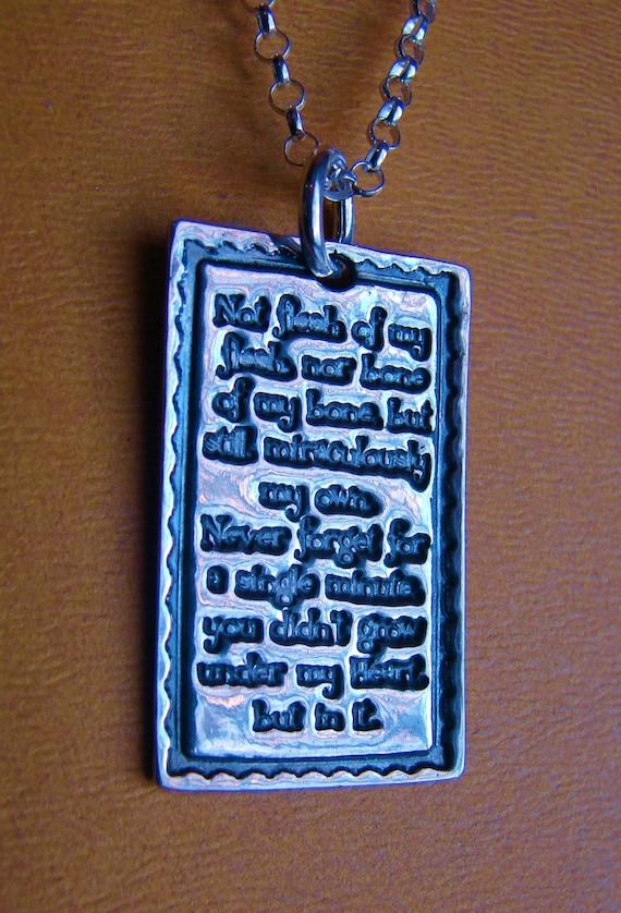 Adoption Necklace-Not Flesh of My Flesh