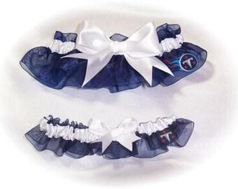 Tennessee Titans Wedding Garter Set    Handmade   Bridal Keepsake Toss nww