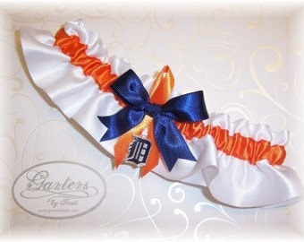Detroit Tigers Wedding Garter with charm    Handmade   Keepsake   Satin w-ono