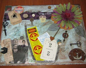 AlTErEd aRt AcrYlic StEaMpUnK TeSt of TiMe BonDs of LoVe eNtwInEd foReVeR OOAK