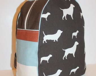 Custom Made Dogs with Stripe Backpack for a Preschooler