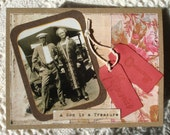 A Son is a Treasure Any Occasion Card with Photograph from the Roaring 20ies