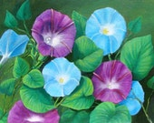 ACEO Print 1  Morning Glories