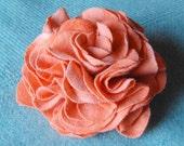 Sorbet Carnation Flower Pin - Recycled Tshirt